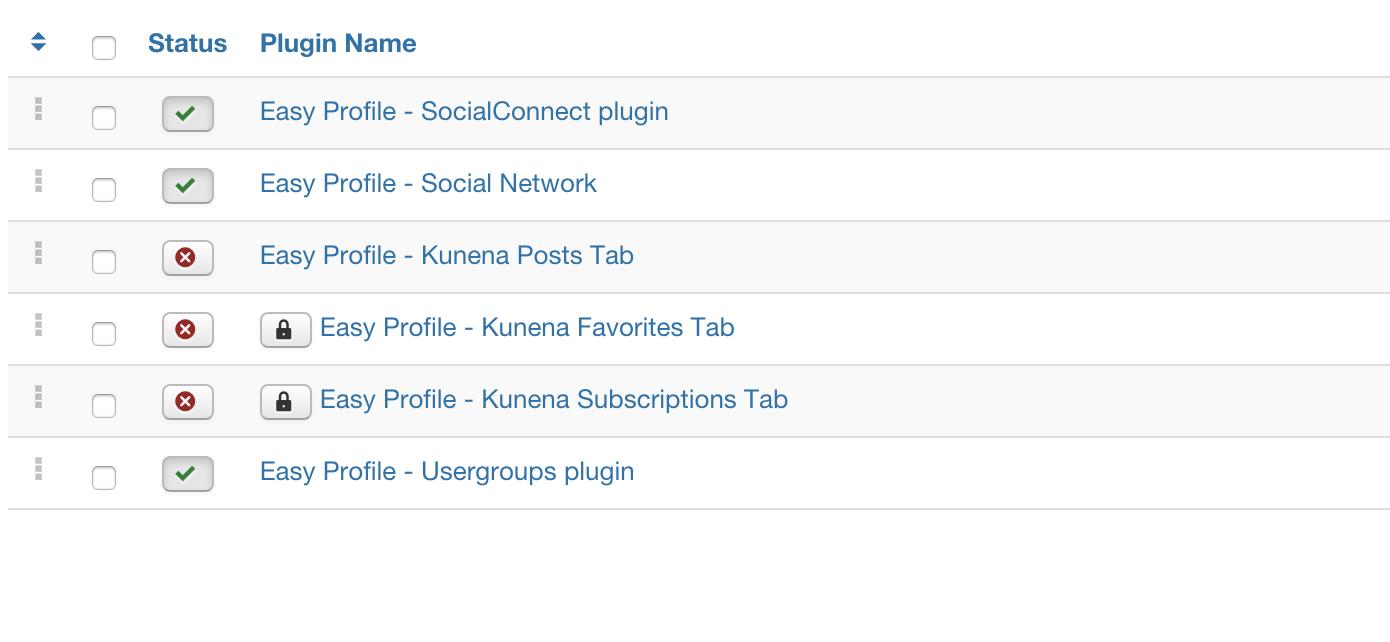 Kunena - Easyprofle plugin